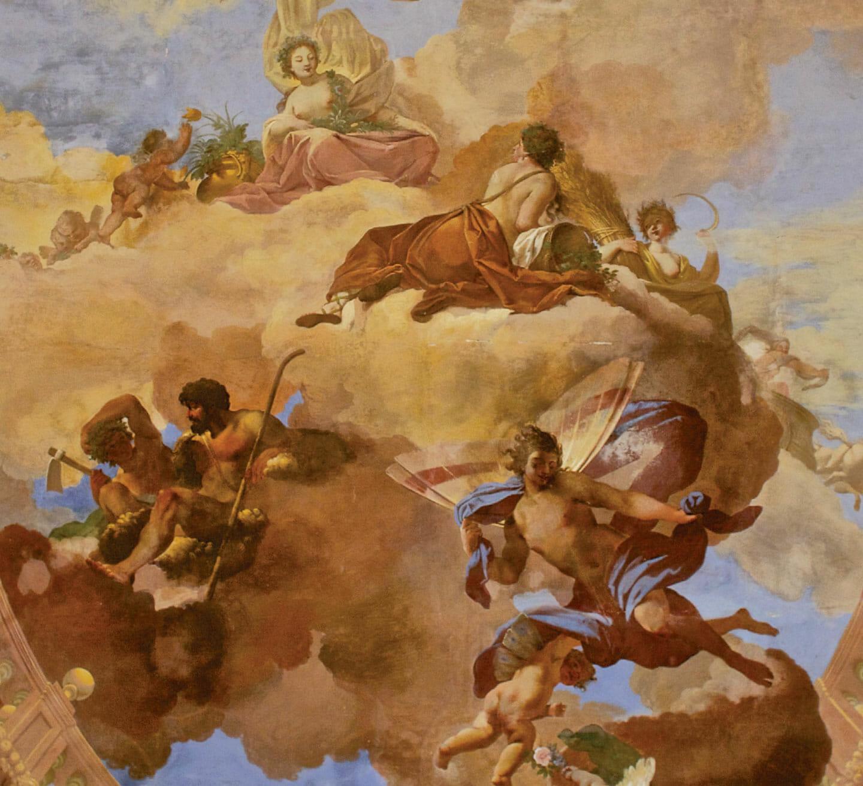 LA SALA DELLE MUSE - DETTAGLIO DEGLI AFFRESCHI
