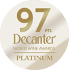 Decanter World Wine Awards – 97pts (Platinum)